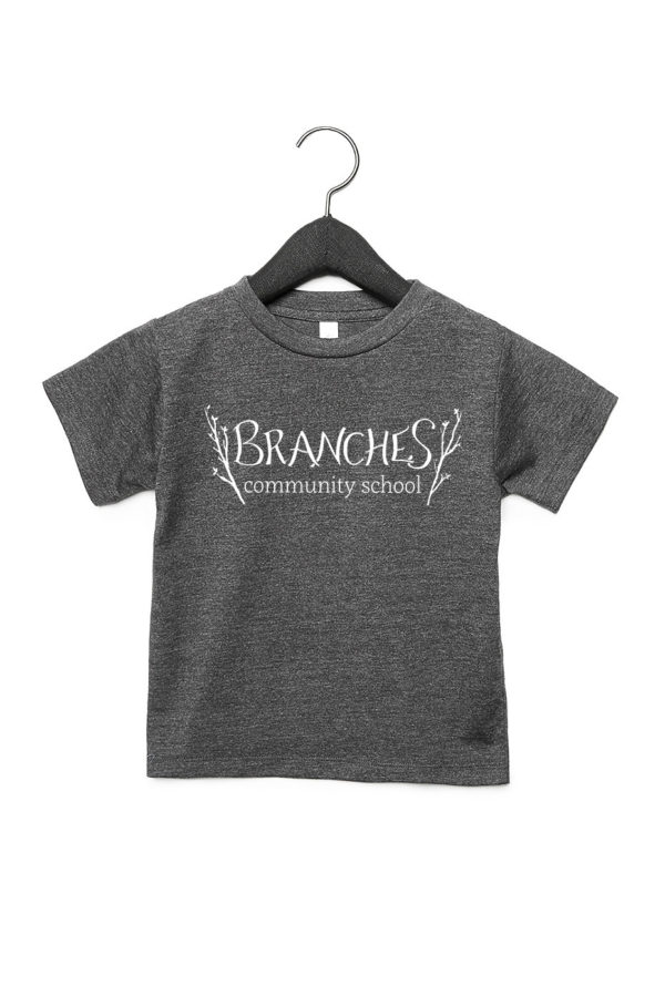Grey Toddler T-Shirt with Branches logo across the chest area.